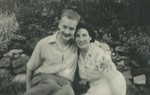 Mum and dad in the garden of Ravenswood Road