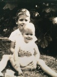 With youngest sister Lucy (Boo), 1960